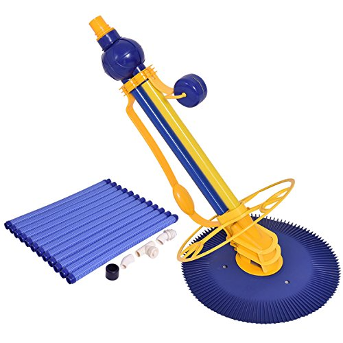 Automatic Swimming Pool Cleaner Set Clean Vacuum Inground Above Ground W/12 Hose by Happybeamy