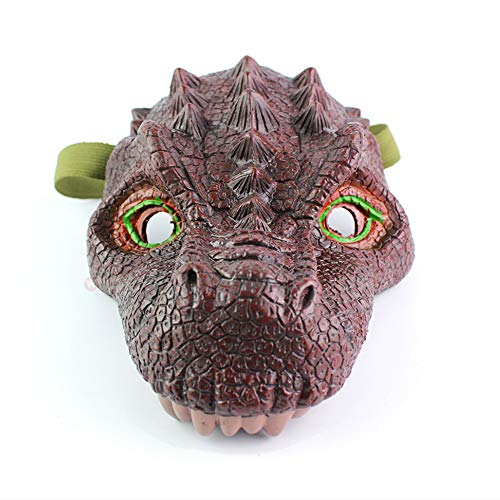 Jurassic World Dinosaur mask,Figures Simulation Tyrannosaurus Mask, Latex Dinosaur Masks for Halloween Costume Party City,Halloween Dinosaur Mask
