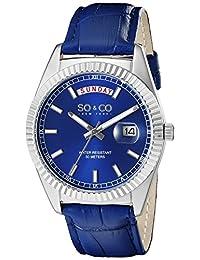 SO & CO New York Men's 5041.2 Madison Analog Display Japanese Quartz Blue Watch