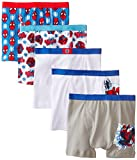 Marvel Little Boys' Spiderman 5 Pack Boxer Brief, Assorted, 4