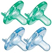 Philips Avent 4 Count BPA Free Soothie Pacifier, 3 Months +, Green/Blue