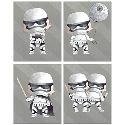 Stormtroopers Star Wars Prints - Set of Four 8x10 Watercolor Original Art Photos