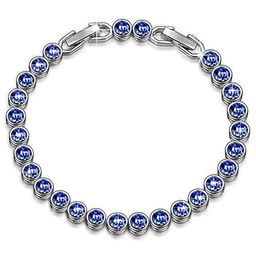 LADYCOLOUR BLUE AQUA SWAROVSKI CRYSTAL BRACELET