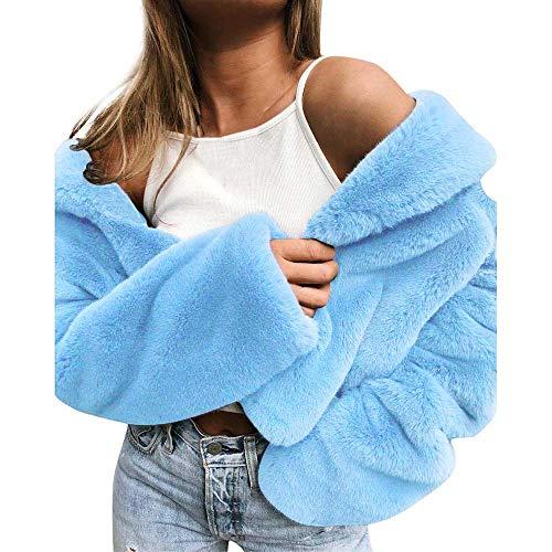 Sunhusing Women's Keep Warm Long Sleeve Outerwear Plush Lapel Slim Comfortable Jacket Coat (Johnny Formal Dress)
