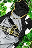 Kids Girls Robin Hood Halloween Costume Forest Lady Archer Dress Up & Role Play (3-6 years, grey, black, gold)