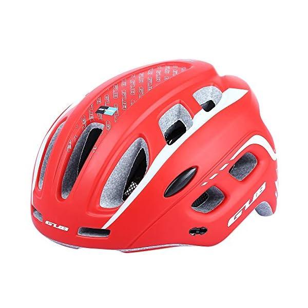outlife Ultraleggero Unisex 55-61cm Casco Bicicletta Adulto 19 Fori con Visiera (Rosso) 1 spesavip