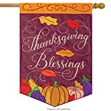 Swirling Thanks Thanksgiving Applique House Flag Embroidered 2 Sided 29″ x 42″ Review