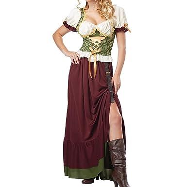 WEIMEITE Disfraz Sirvienta Cerveza Fiesta Halloween Vestido ...