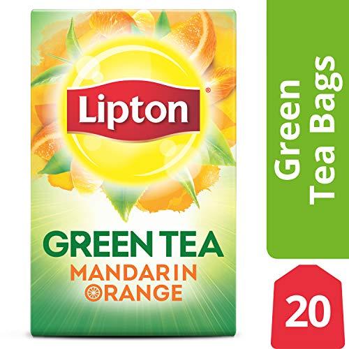 Lipton Green Tea Bags, Mandarin Orange, 20 - Tea Orange Flavored