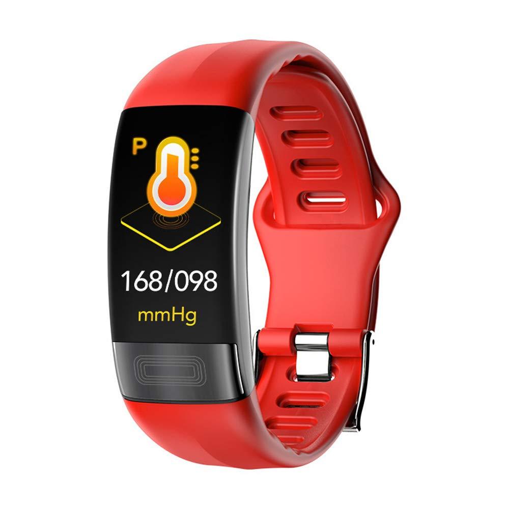 Red Smart Sports Bracelet, Waterproof Smart Watch, ECG+HRV Monitoring, Smart Reminder, Fitness Tracker, Message Push, Sports Pedometer