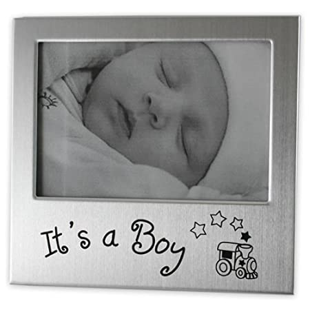Its A Boy Photo Frame Silver Colour 5 X 35 Amazoncouk