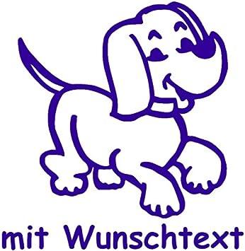 My Baby Shop Hundeaufkleber Fürs Auto Mit Wunschtext Motiv H1 16 Cm Auto
