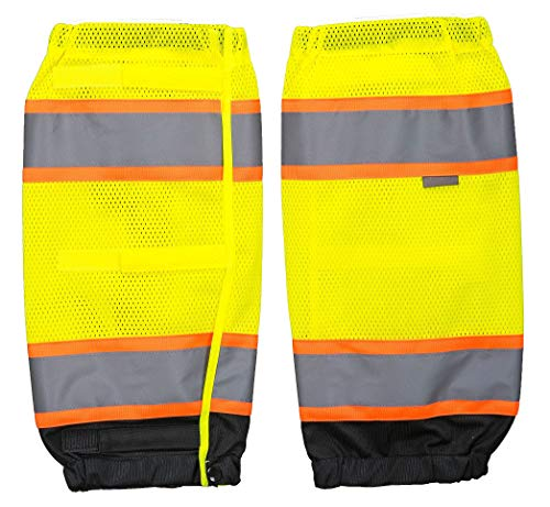Brite Safety Hi-Vis Two Tone Gaiter - High Visibility Leg Gaiters Reflective Clothing Accessory For Men and Women (Yellow/Black)