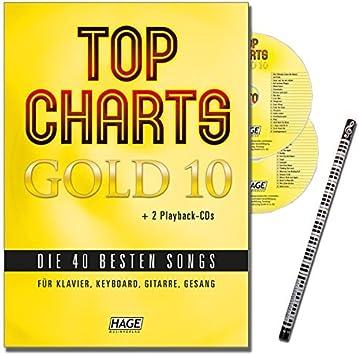 Top charts Gold 10 con Piano-lápiz + 2 CDs: el gran libro de ...