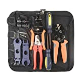IWISS MC4 Solar PV Cable Crimping Tool Kit for 2.5/4/6mm ²with Crimper,Stripper,Cutter,Test Leads-Oxford bag pack
