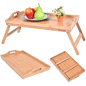 winsome wood sedona bed tray curved side foldable legs large handle kitchen dining. Black Bedroom Furniture Sets. Home Design Ideas