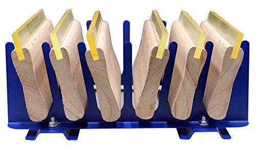 Techtongda 6 Layers Desktop Screen Printing Squeegee Rack Silk Screen Squeegee Scraper Spatula Steel Holder Organizer by Screen Printing Equipment
