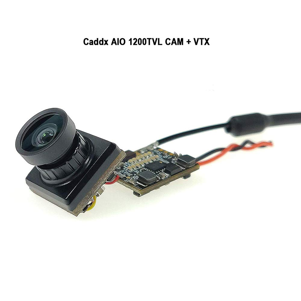 Caddx Firefly FPV AIO Camera 1200TVL with OSD 25MW 48CH FPV Transmitter VTX 1/3'' 16:9 CMOS Sensor Support Smart Audio for Tiny Whoop Racing Drone by Caddx
