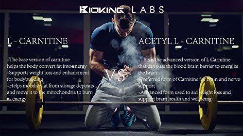 Acetil L-Carnitina Extreme 1000mgs por porción (2 tabletas) Por BioKing Labs | Cápsulas potenciadoras de energía | Mejora el rendimiento atlético | Poderoso ...