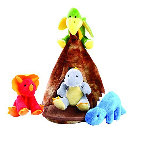 - Animal House Animals Sound Toys With Carrier | Plush Baby Gift | Toddler Gift (Dino World)