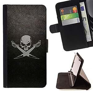 Jordan Colourful Shop - cherep sabli fon For Apple Iphone 6 - Leather Case Absorci???¡¯???€????€???????????&A
