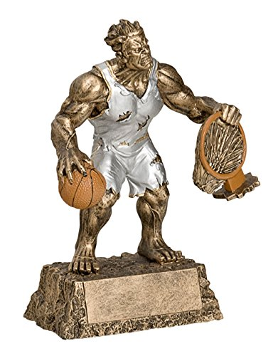 Basketball Monster Trophy with 3 lines of custom text