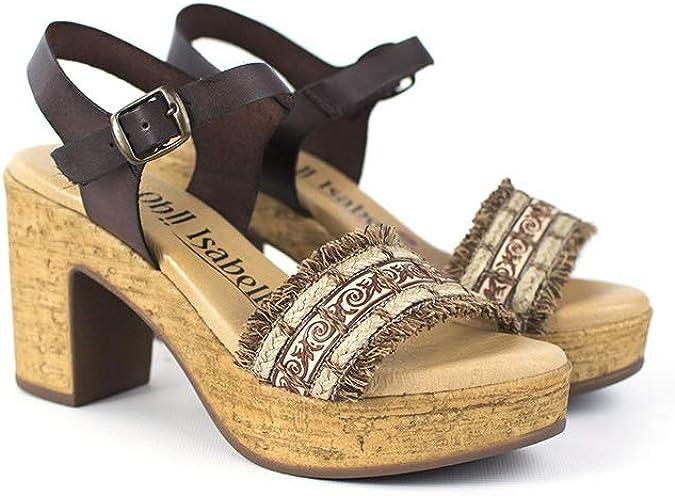 Isabella Modelo Beatrice Marrone Zapato c/ómodo para Mujer Oh!