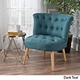 Tufted Fabric Accent Chair in Dark Teal by Christopher Knight Home Review
