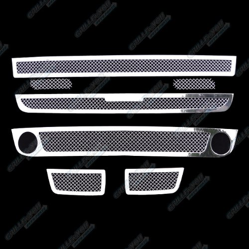 APS Fits 06-09 Chevy Trailblazer SS Mesh Grille Combo Insert #C71007T
