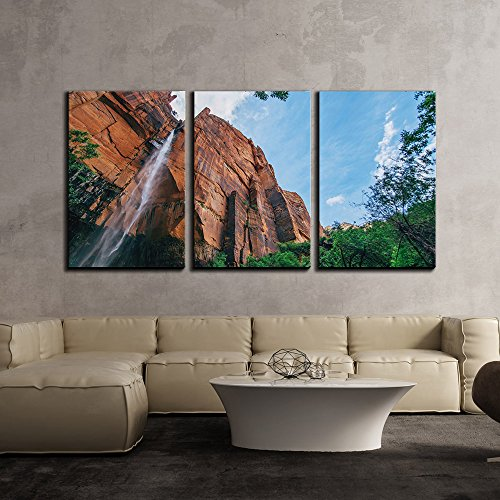 Grand Mountain Viewed from the Mountain Foot x3 Panels