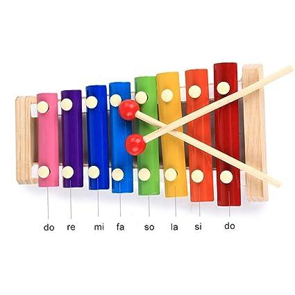 8 Niño Batería Bebé Xilófono Kit Enrollable Juguetes Música De Note KJu35lF1Tc