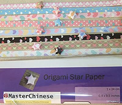 Origami Stars Papers Package - 8 Colors 400 Sheets - Hearts (With Instruction by MasterChinese)