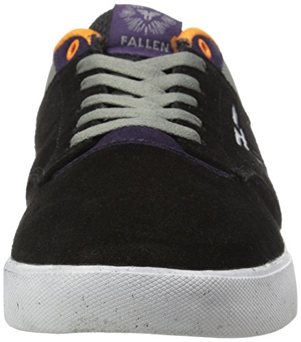 FALLEN Skateboard Shoes THE VIBE BLACK/DEEP PURPLE SANDOVAL Sz 10.5