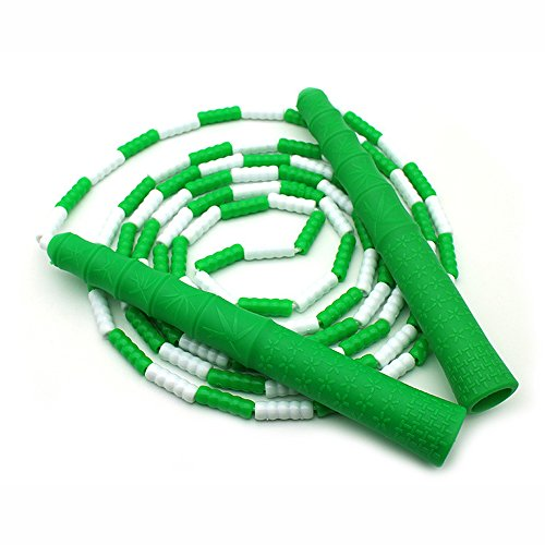 Eyewalk Jump Ropes with Handles - 10 feet - Green & White Color