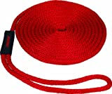 SeaSense Solid Braid MFP Dock Line with Chafe Guard, 1/2-Inch X 15-Foot, Red