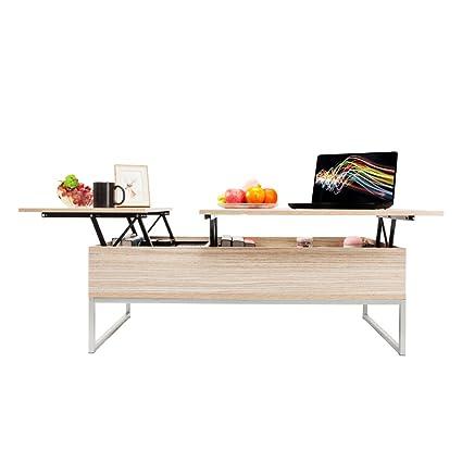 Amazon Com Moonbuy Large 47 Lift Top Coffee Table Double Hidden