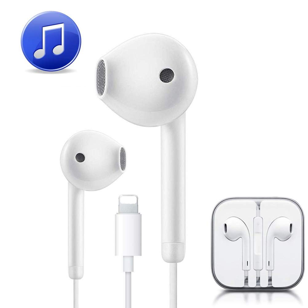 Earbuds Headphones Compatible for iPhone 8 Headphones, Plug and Play Earphones with Built in Remote Control, Applicalbe with iPhone Xs/XS Max/XR/X/8/8 Plus/7/7