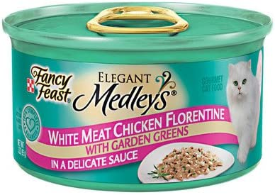 Fancy Feast Elegant Medley Chicken Case Florentine Cat Food Case of 24