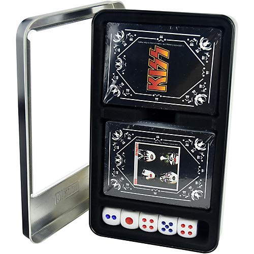KISS - Dynasty/KISS Logo Double Deck Playing Card Set with Dice in Tin Box Pack of 2