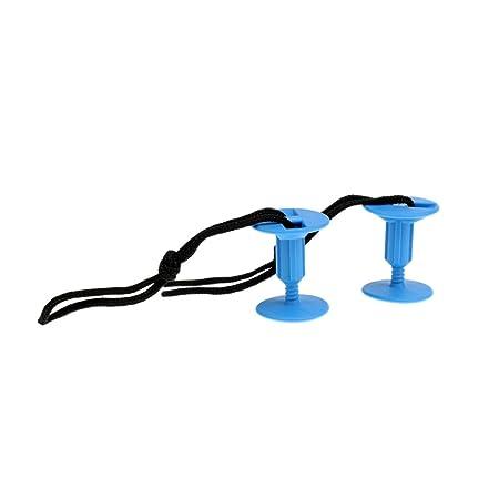 NON 2 Piezas De Tapones De Cordaje De Tabla De Surf con Cuerdas De Correa - Azul: Amazon.es: Deportes y aire libre