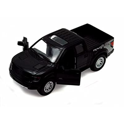 2013 Ford F-150 SVT Raptor SuperCrew Pickup Truck, Black - Kinsmart 5365D - 1/46 scale Diecast Model Toy Car (Brand New, but NO BOX)