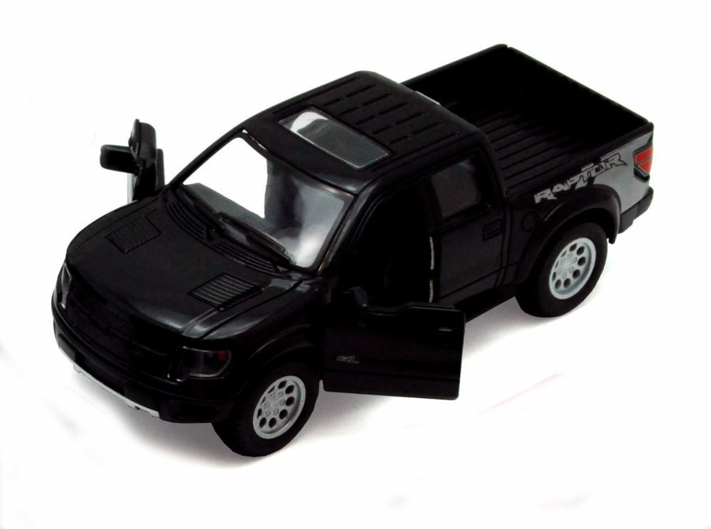 2013 Ford F 150 SVT Raptor SuperCrew Pickup Truck Black Kinsmart 5365D 1 46 scale Diecast Model Toy Car Brand New but NO BOX