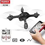 Qiyun RC Aircraft SYMA X23 X23W Mini Set Height RC Quadcopter 363 Degree Rotation Drone Aircraftcolour:X23W black with WIFI camera