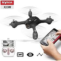 Qiyun RC Aircraft SYMA X23 X23W Mini Set Height RC Quadcopter 363 Degree Rotation Drone Aircraftcolour:X23W black with WIFI camera
