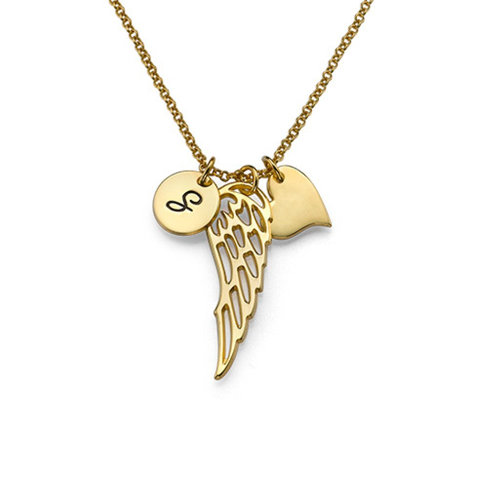 Fashion Custom Angel Wings Necklace Personalized Name Custom Necklace