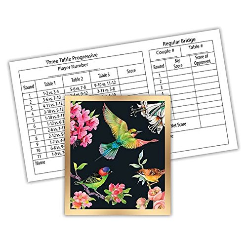 Michel Design Works Bridge 12-Count Score Card Tallies, Bird Song