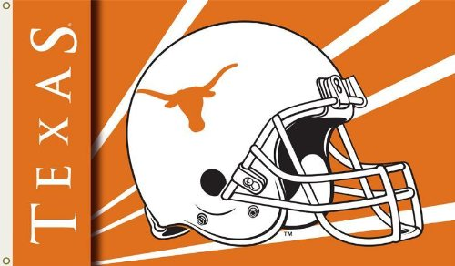 NCAA Texas Longhorns 3-by-5 Foot Flag with Grommets - Helmet (Texas Longhorns Pattern)