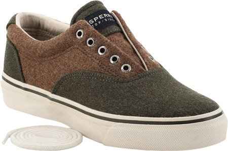 Sperry Top-sider Mens Striper In Lana Cvo, Oliva / Lana Doca, Us 8 M