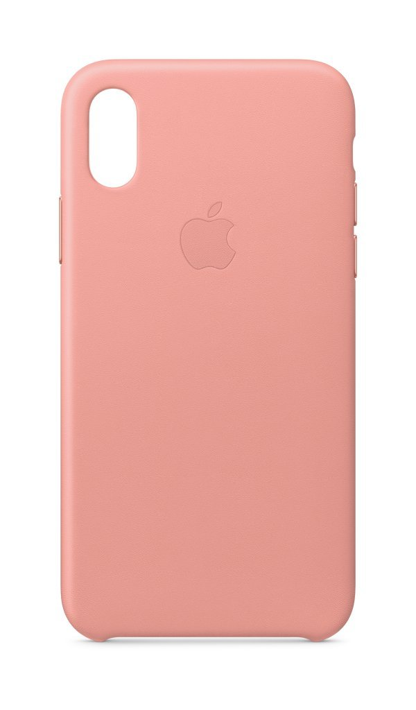 Funda Apple Leather Case iPhone X (Pink Fuchsia)