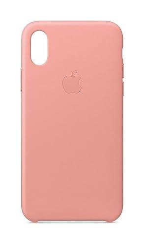 Apple Leather Case - Funda para el iPhone X - Rosa Palo
